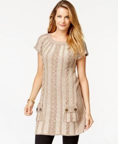 Style&co. Cable-Knit Tunic Dress, Only at Macy's