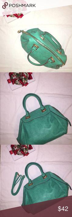 0e7d236837a WOMENS handbag Teal WOMENS handbag. Can we WORN as a cross body bag. Gold.  Poshmark