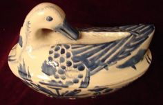 C. 1880 CHINESE EXPORT BLUE AND WHITE DUCK TUREEN For Sale | Antiques.com | Classifieds