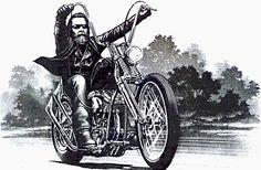 David Mann Motorcycle Art | David Mann - biker, artist and legend.