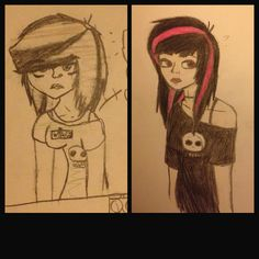 Just wanted to throw this out here. This is my art progress! Of one of my characters named Christine. This is to boost you're inspiration and stuff to show that you Can draw!  this was 2014/2017! It takes time guys. Don't stop doing what you love! ~Hollydot