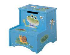 Froggy Stepstool with Storage