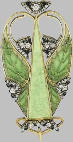 René Lalique - circa 1900 - I'm pretty sure this has been put in up-side-down, but it's still a beautiful example of his work.: