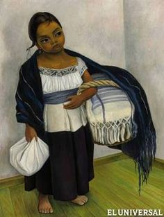 """Diego Rivera """"Girl in Blue and White"""", 1939 (Mexico, Art Deco, cent. Diego Rivera, Mexican Artists, Mural Painting, Museum Of Modern Art, Art Auction, Disney Characters, Fictional Characters, Art Deco, Blue And White"""