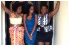 miss Knonye and the Ajoku sisters *mwah* Kinds Of Fabric, Prom Dresses, Formal Dresses, Sisters, Silk, Cotton, Fashion, Dresses For Formal, Moda