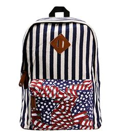 Women's Naval Stripe Print Travel Rucksack Canvas School Backpack with Contrast Star Front Pocket ZLYC http://www.amazon.co.uk/dp/B00MOCXYXC/ref=cm_sw_r_pi_dp_Rji7tb03H3SZX