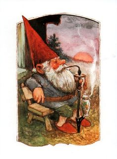 """Rien Poortvliet (1932-1995) — Gnome Elf David """"The Secret Book of Gnomes"""" by Wil Huygen(624x850)"""