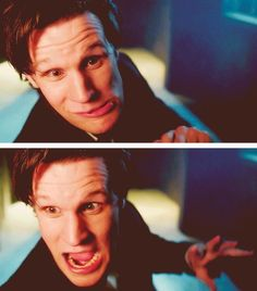 Matt Smith (I swear this show makes me feel less self-conscious about my automatic reflexive really bizarre and dramatic facial expressions)