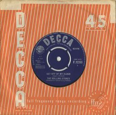 """For Sale - Rolling Stones Get Off Of My Cloud - 1st - EX UK 7"""" vinyl single (7 inch record) - See this and 250,000 other rare & vintage vinyl records, singles, LPs & CDs at http://eil.com"""