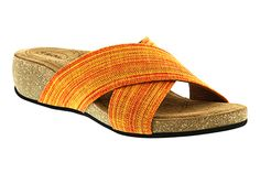 A pop of color will brighten your step in the Taos Sunshine #sandals!