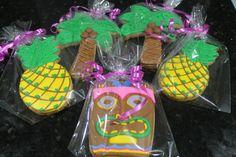 Luau cookies by Ladybugcakesdotcom on Etsy