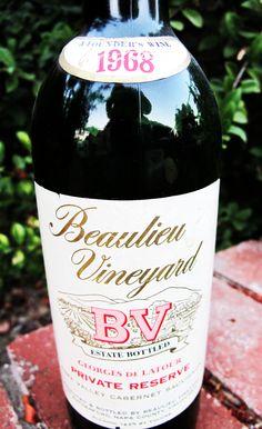 1968 Beaulieu Vineyard Georges de Latour Private Reserve Cabernet Sauvignon