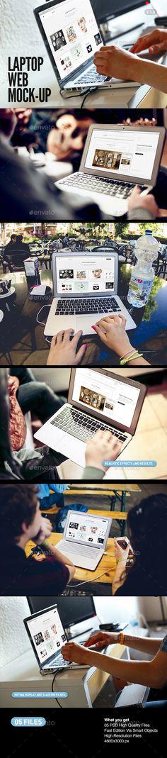 Laptop | Screen Web App Mock-Up #design Download: http://graphicriver.net/item/laptop-screen-web-app-mockup/13391895?ref=ksioks