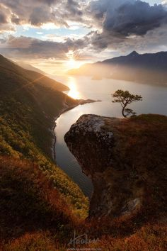 """View from """"Vettamyra"""" in Sunndal over the Fjord by Haakon Nygaard on 500px"""