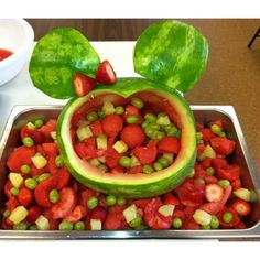 Minnie Mouse Watermelon Basket