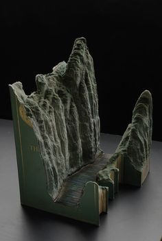 Carved Book Landscapes by Guy Laramee | Bored Panda