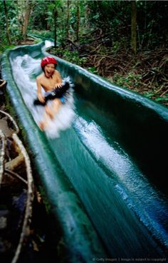 Jungle water slide in Buenavista: Guanacaste, Costa Rica