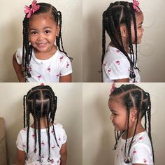 The Effective Pictures We Offer You About black girl hairstyles for kids crown A quality picture can Mixed Kids Hairstyles, Toddler Braided Hairstyles, Cute Little Girl Hairstyles, Little Girl Braids, Girls Natural Hairstyles, Baby Girl Hairstyles, Girls Braids, Kid Braids, Tree Braids