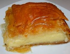 Greek Sweets, Greek Desserts, Greek Recipes, My Recipes, Galaktoboureko Recipe, Cyprus Food, No Bake Cake, Sweet Tooth, Food And Drink
