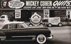 Mickey Cohen's Place on the Strip photo by Max Yavno, 1949 Mafia, Mickey Cohen, La Confidential, I Love La, Al Capone, Sunset Strip, Los Angeles California, Southern California, Crime