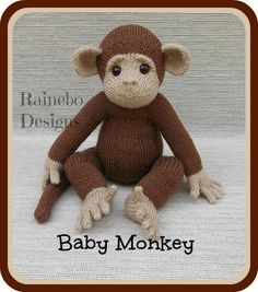 Looking for your next project? You're going to love Knit Baby Monkey by designer Rainebo.