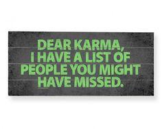 #Karma #Quote #Plaque ♥