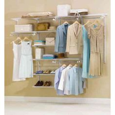 Rubbermaid Configurations 48 in. D x 96 in. W x 2 in. H White Metal Custom Closet System