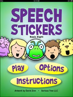 SpeechStickers playfully motivates children with speech delay to practice the basic building blocks of speech. It was designed by a professional speech-language pathologist who specializes in working with children with autism and young children with severe speech disorders.