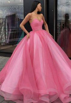 Pink tulle long ball gown dress pink evening dress – Loveydress Princess Prom Dresses, Princess Ball Gowns, Cute Prom Dresses, Sweet 16 Dresses, Pretty Dresses, Pink Sweet 16 Dress, Pink Princess Dress, Sweet Sixteen Dresses, Formal Dresses