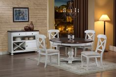 Round butterfly leaf table - Pier one dining table