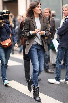 Tendencias primavera verano 2013 zapatos botines - Emmanuelle Alt