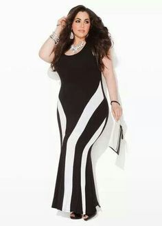 2ac2f45c960 Ashley Stewart Colorblock Maxi Dress--I m sorry but this is not flattering