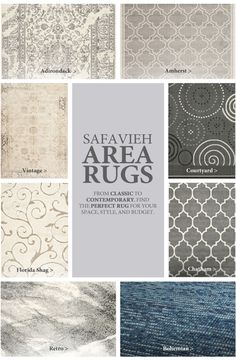 What's your style? Add texture and colour to your floor with an area rug!