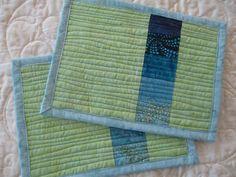 Batik Mini Place mat Mug Rug by Tessasquiltshop on Etsy