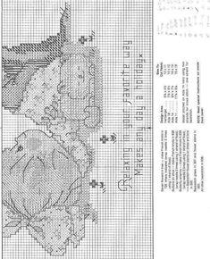 Schema punto croce Bimba Agosto 3