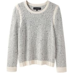 Rag & Bone Presley Pullover ($128) ❤ liked on Polyvore featuring tops, sweaters, jumpers, shirts, ivory sweater, long sleeve pullover sweater, longsleeve shirts, shirts & tops and marled sweater