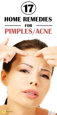 Are you worried about those pimple & acne that break out every now & then? Don't get annoyed. Here are simple #homeremediesforacne ...