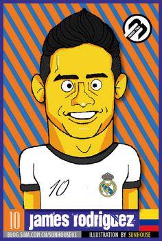 James Rodríguez-illustration by sunhouse