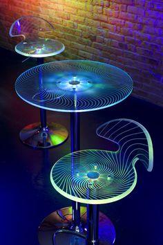 LumiSource : Spyra LED Bar Stool & Bar Table