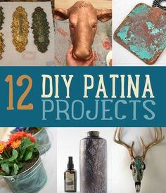 Patina DIY! DIY Patina Projects | http://diyready.com/diy-patina-projects-faux-paint-decor/