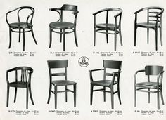 Thonet, cafe chairs, bistro chairs