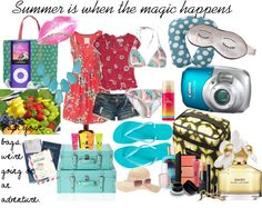 """""""My Summer Adventure"""" by hellobonjournamaste ❤ liked on Polyvore"""