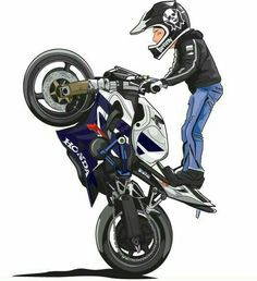 Motorcycle Stunt Names Stunt Bike, Motorcycle Art, Bike Art, Super Bikes, Valentino Rossi, Wheeling, Bike Illustration, Biker Boys, Bike Photography