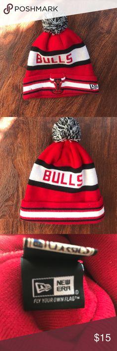 Chicago Bulls Beanie Windy City Chicago bulls beanie; worn very lightly New Era Accessories Hats