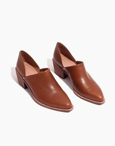 Details about  /Womens Ladies Fashion Leather Two Tone V-Cut Low Heel Slip On Shoes Mules MOON