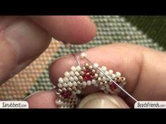 Tutorial orecchini con perline: orecchini a stella realizzati con perline | Tutorial perline