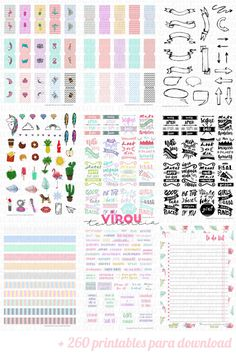 61 ideas for wall art stickers free printable Planner Free, Agenda Planner, Planner Book, Erin Condren Life Planner, Download Planner, Planner Stickers, Printable Stickers, Free Stickers, Free Printable