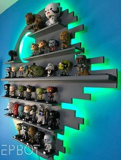 EPBOT: Our DIY Death Star Shelf Changes Colors! Come See!