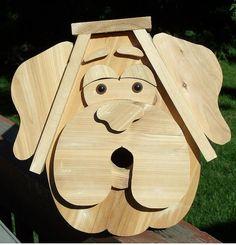Fun Dog Style Cedar Bird House by NWoutdoor on Etsy, $45.00