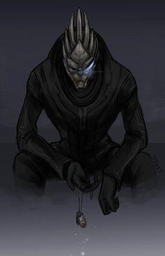 ME Fan art by Spader7 - No Vakarian without Shepard